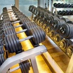 Dumbbells for exercise.