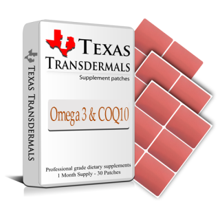 Each contains: 30 Omega 3 and COQ10 Patches - One month supply.